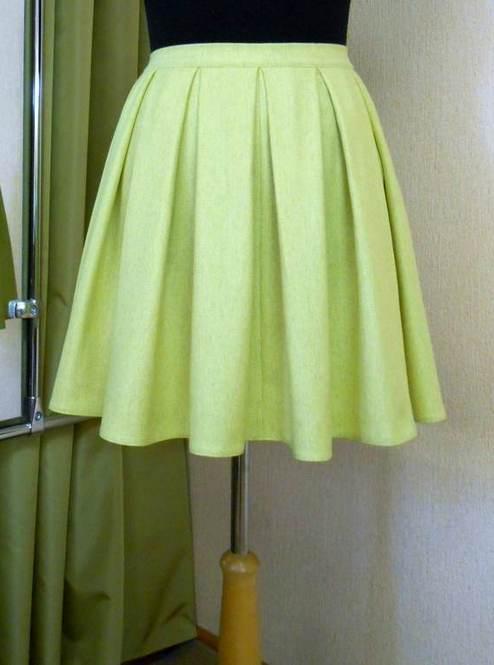 раскрой юбки со складками